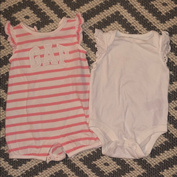 GAP Other - 2 GAP Size 3/6 Months Baby Lot Onesies